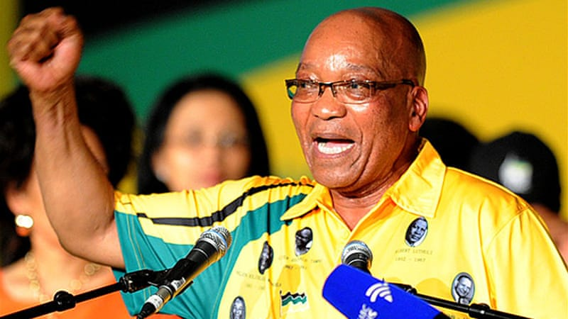 The conference is set to give President Zuma a second mandate to lead ANC [AFP]