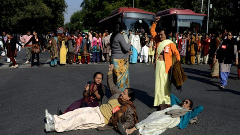 New Delhi is often referred to as the 'rape capital', in a nation where one woman is raped every 20 minutes [AFP]