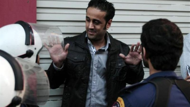 Yousef al-Muhafadha, a leading rights activist, was amongst those arrested at the protests [AP]
