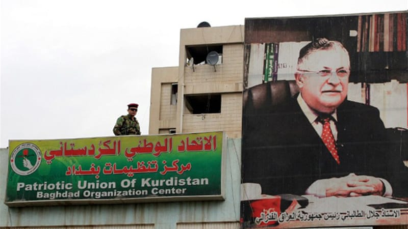 Ailing Iraqi President Talabani has often mediated among Iraqi Shias, Sunnis and Kurds [AFP]
