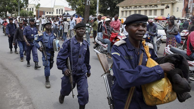 Hundreds of police have arrived in Goma after the M23 pulled out of the city [Reuters]