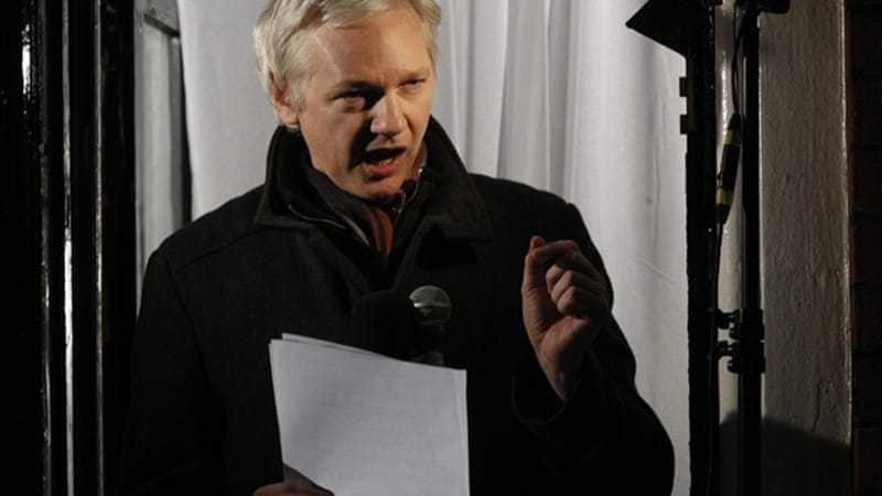 Assange has taken asylum in Ecuadorean embassy in London since last June to avoid extradition [Reuters]