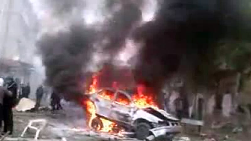 A car which exploded in the Qaboun district of Damascus has killed several people and wounded dozens more [AFP]