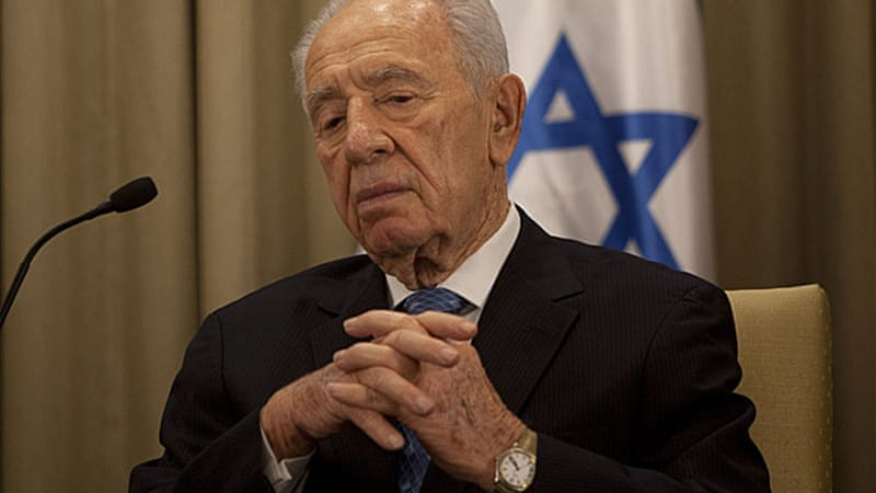 Aides said President Shimon Peres had been advised against travelling [GALLO/GETTY]