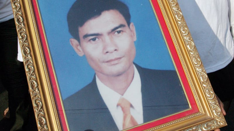 Assassinated union leader Chea Vichea was highly critical of Prime Minister Hun Sen's government. [EPA]