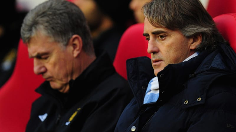 City manager Roberto Mancini was unimpressed after his side struggled to create clear chances in their 1-0 defeat at Sunderland [GALLO/GETTY]