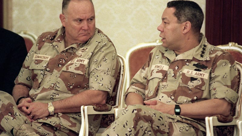 "Norman Schwarzkopf (left) was known popularly as ""Stormin' Norman'' for a notoriously explosive temper [AFP]"