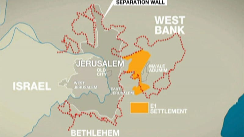 E1 includes parts of East Jerusalem that Palestine would like as its capital [Al Jazeera]