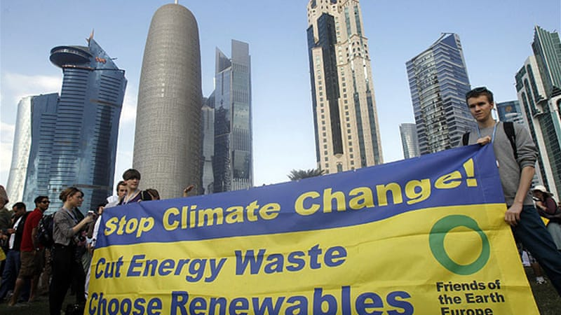 World leaders are meeting in Doha, the capital of Qatar, for the annual UN climate change conference [Reuters]