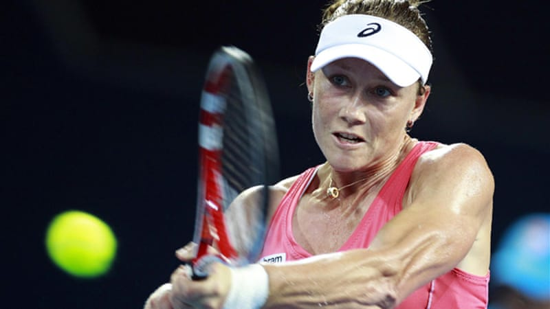 Home favourite Stosur also lost, continuing her poor form in Australia since winning the 2011 US Open [Reuters]