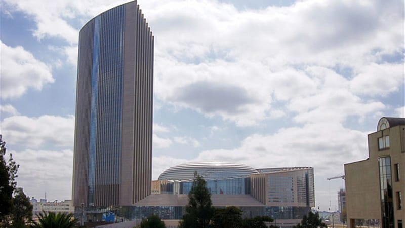 African Union Building in Addis Ababa showcases China's economic and engineering prowess [EPA]