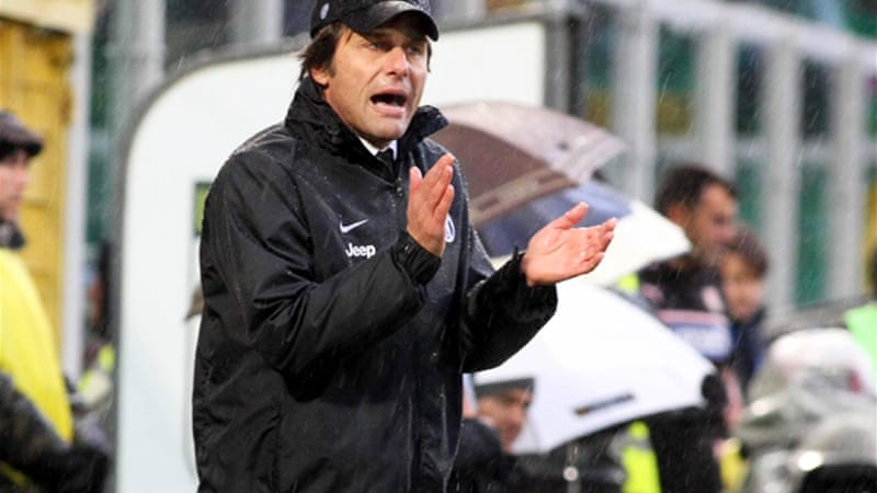 It was Conte's first match back after serving a four-month ban for failing to report match-fixing as coach of Siena [EPA]