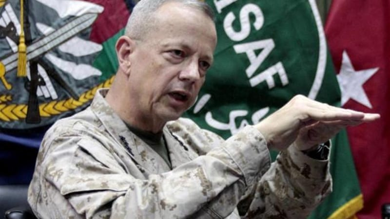 General John Allen said the rescue mission exemplified the US' commitment to defeat the Taliban [AFP]