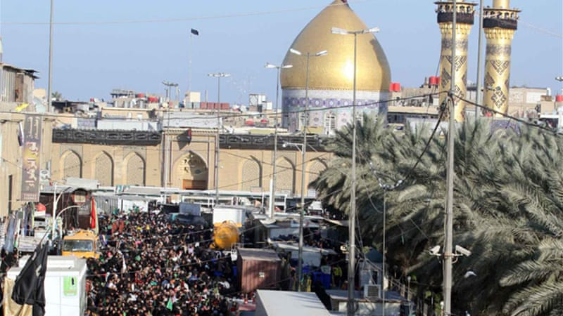 Thousands of Iranian Shias used to flocked to shrines such as Imam Hussein in Karbala [EPA]