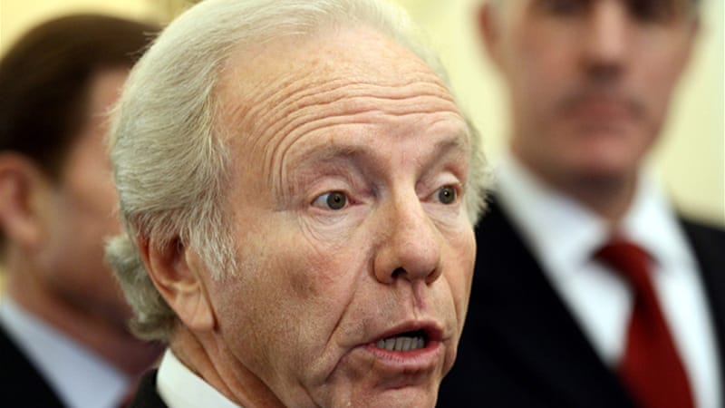 US senators such as Joe Lieberman argue that 'all options must be on the table' with Iran [GALLO/GETTY]