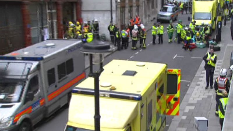 London has staged a series of drills ahead of the Olympics in preparation for a potential attack