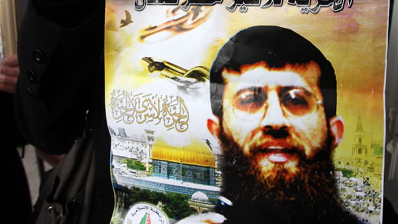 Khader Adnan recently ended his 66-day hunger strike after Israel agreed to release him in April [EPA]
