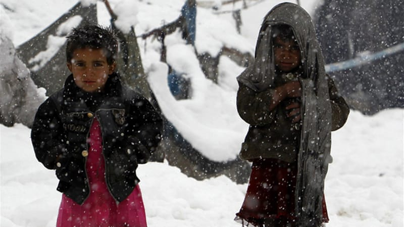 The internally displaced population, children included, are exposed to Afghanistan's harsh winter [Reuters]