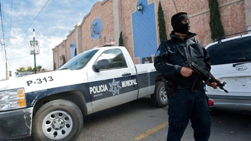Police say the 14 bodies were discovered in San Luis Potosi following an anonymous tip [AFP]