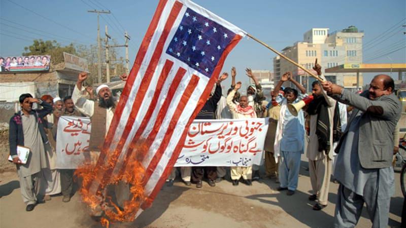 Pakistanis frequently stage protests against US drone strikes [EPA]