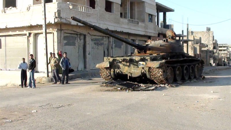 Rastan, in the restive Homs province, has become a stronghold of the armed opposition [AFP]