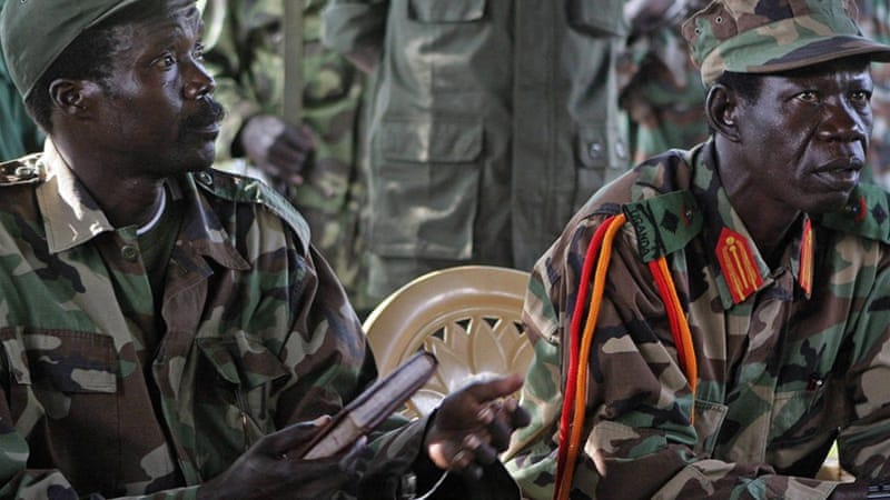LRA chief Joseph Kony, left, remains at large and is believed to be constantly on the move across Central Africa [AP]