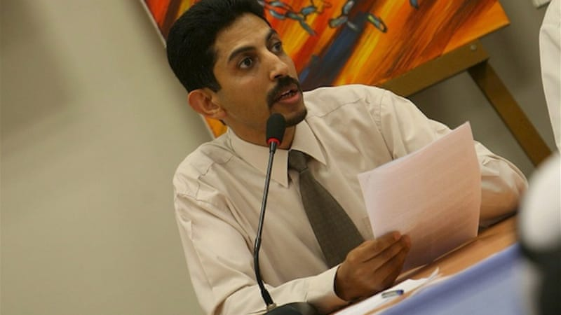 Abdulhadi al-Khawaja, who went on a 110-day hunger strike in protest at his detention is amongst the 13 convicted [EPA]