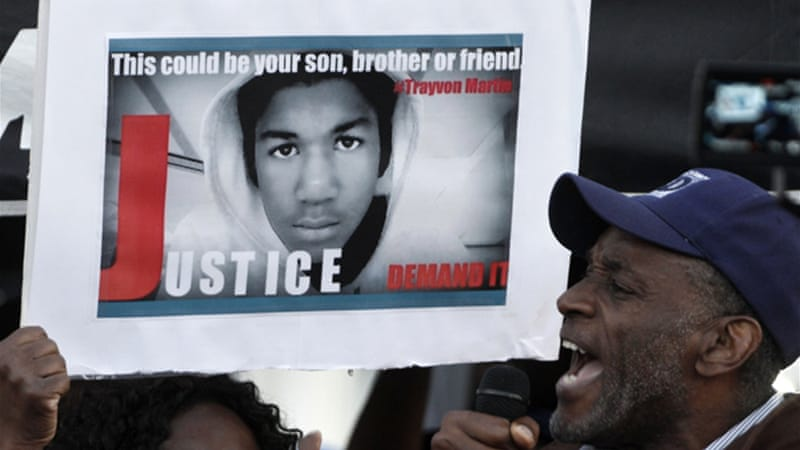 Campaigners have demanded Trayvon's killers be brought to justice [REUTERS]