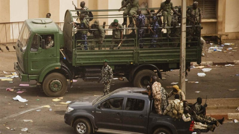 Bamako has been tense since a coup was lauched against President Toure [Reuters]