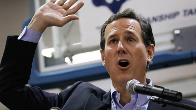 Despite claims to the contrary, Rick Santorum  never had 'a working-class wage or a working-class boss' [GALLO/GETTY]
