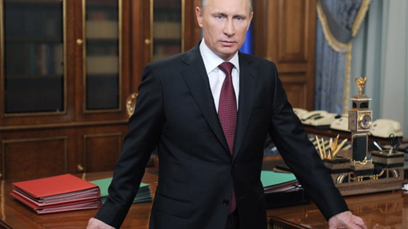 Tomorrow's election will most likely see President Putin re-elected for another six years in government [EPA]