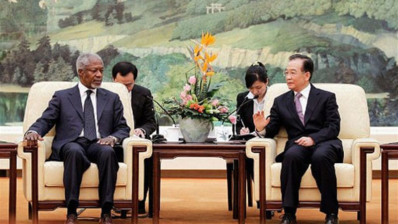 Annan has visited both China and Russia in his effort to elicit support to solve Syria crisis [AFP]