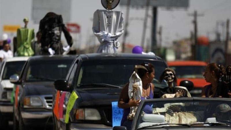 The cult of La Santa Muerte is said to be on the rise in Mexico [Reuters]