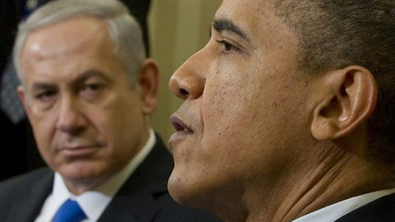 Obama met with Netanyahu in the White House on Monday, telling him the US 'will always have Israel's back' [AFP]