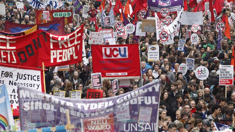In the United Kingdom, organised labour groups boast over six million members [EPA]