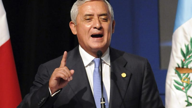 Guatemalan President Otto Pérez Molina called for decriminalisation the of recreational drugs [EPA]