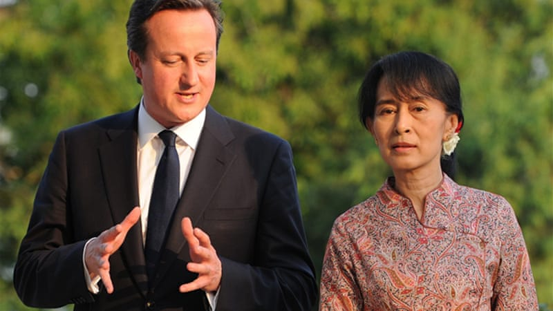 Aung San Suu Kyi will also travel to Norway and Britain where she will address the UK parliament in June [AFP]