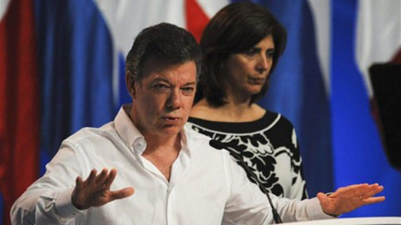 President Juan Manuel Santos recently said the FARC sought peace after nearly a half-century of conflict [AFP]
