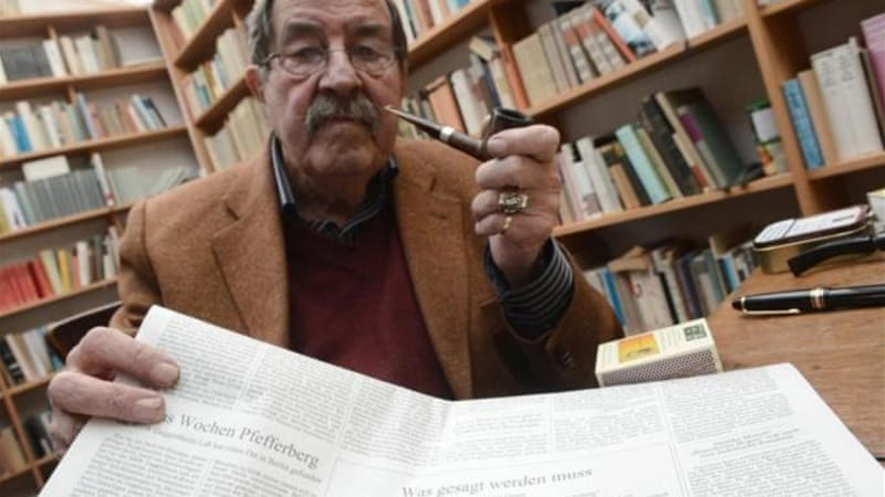 Nobel laureate Gunter Grass was banned from Israel due to his poem denouncing Israeli nuclearism [AFP]