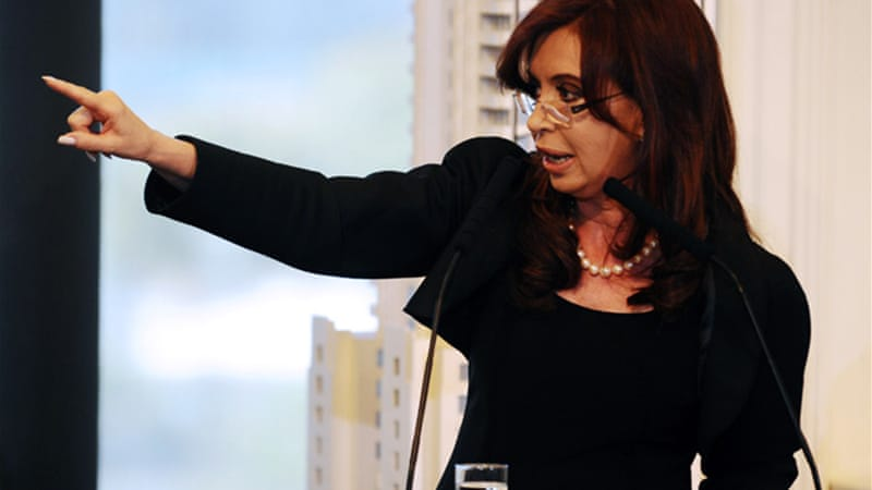 Argentine President Kirchner offered a new bond swap deal for holders of defaulted debt on Monday [AFP]