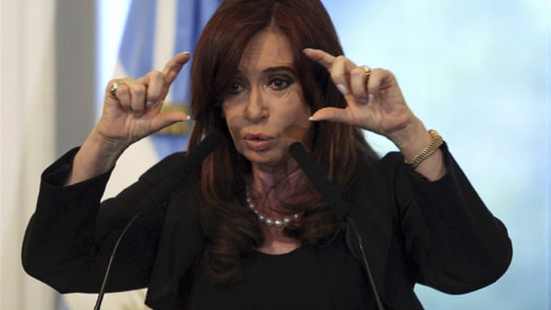 rgentine President Cristina Fernandez de Kirchner's party controls both houses of Congress [AFP]