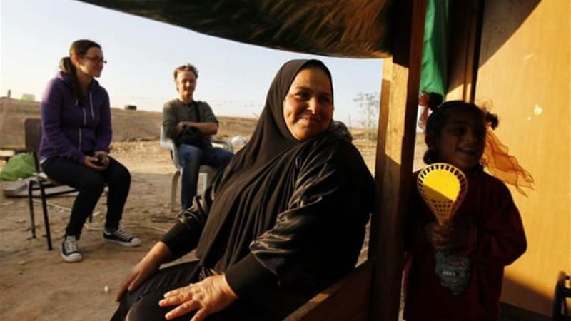 An estimated 70,000 people currently live in 45 unrecognised Bedouin villages in the Negev [REUTERS]