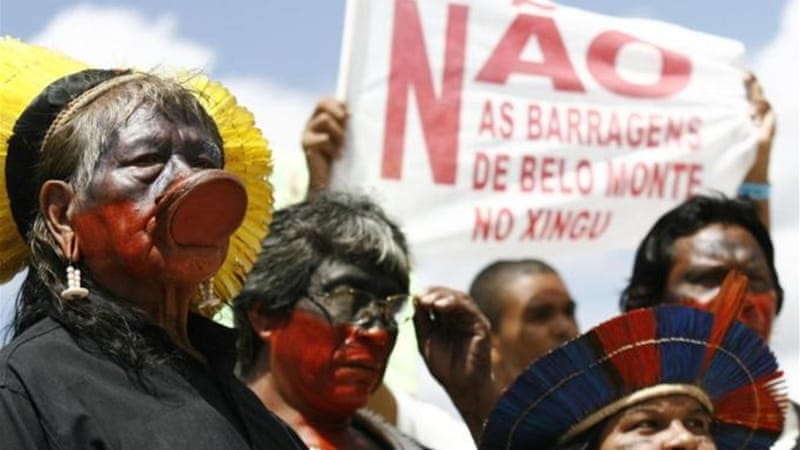 Indigenous populations in Brazil were completely bypassed by the construction of the Belo Monte dam [REUTERS]