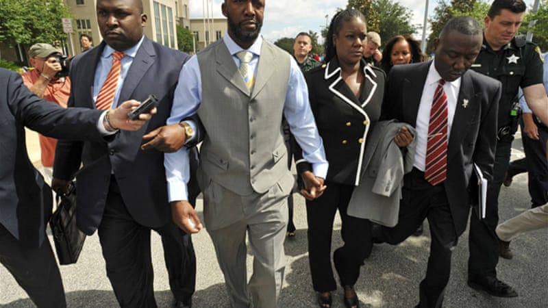 Martin's parents left the Florida courtroom on Friday without making any statement [Reuters]