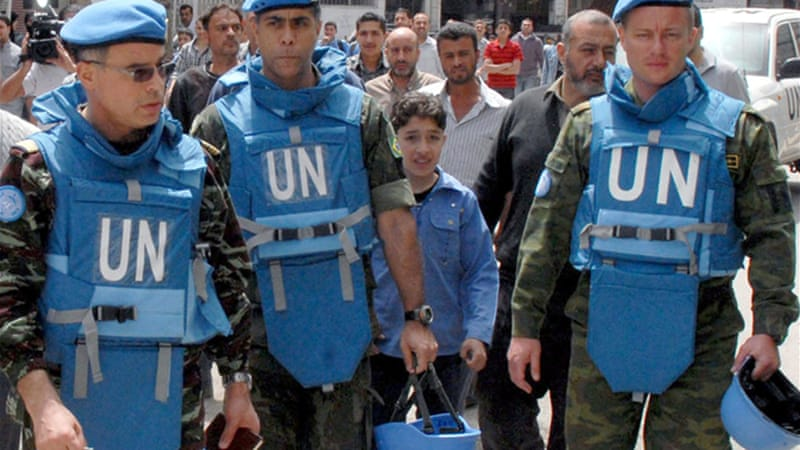 Already 15 UN observers are in place in Syria, another 285 are expected to join [EPA]