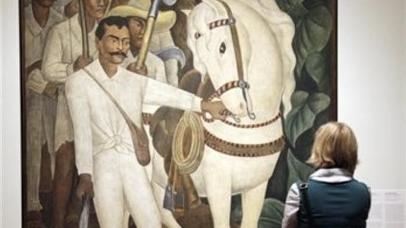 Rivera's murals such as 'Agrarian Leader Zapata' would be better off in Zucotti Park than in MoMA [AP]
