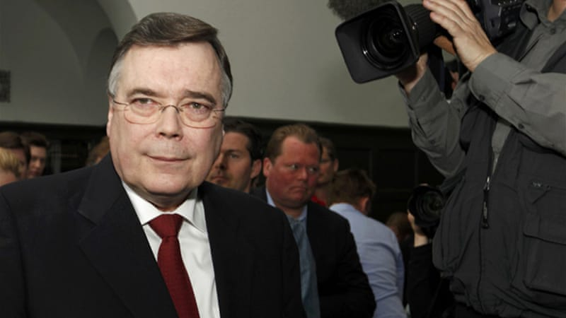 Geir Haarde is the only politician in the world so far put on trial for his role in the 2008 crisis [Reuters]