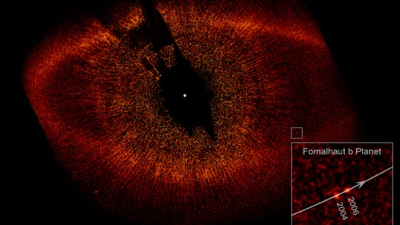 The 2008 image of the discovery of Fomalhaut b [NASA/ESA]