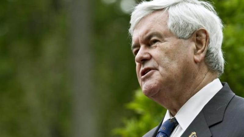 "Newt Gingrich says he will ""reassess his candidacy"" if he loses in N Carolina [AFP]"