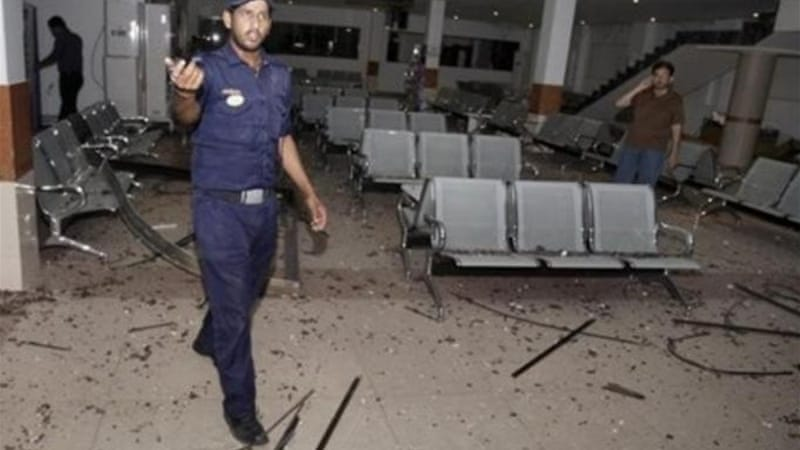 The 5KG bomb was left in a bag near the lounge for the luxury Business Express train to Karachi [EPA]